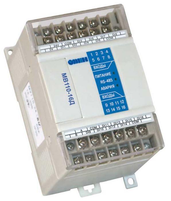 Модуль ввода дискретных датчиков МВ110-16Д
