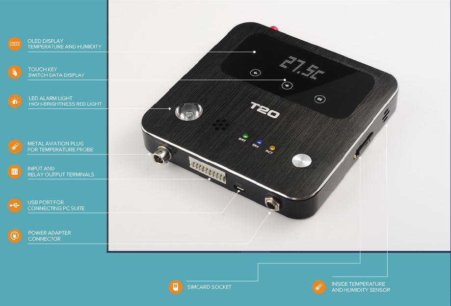 Беспроводной регистратор температуры и влажности T20