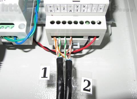 Подключение шлейфов с датчиками температуры 1-wire