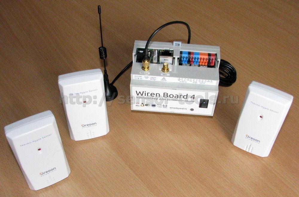 Беспроводная система мониторинга температуры и влажности