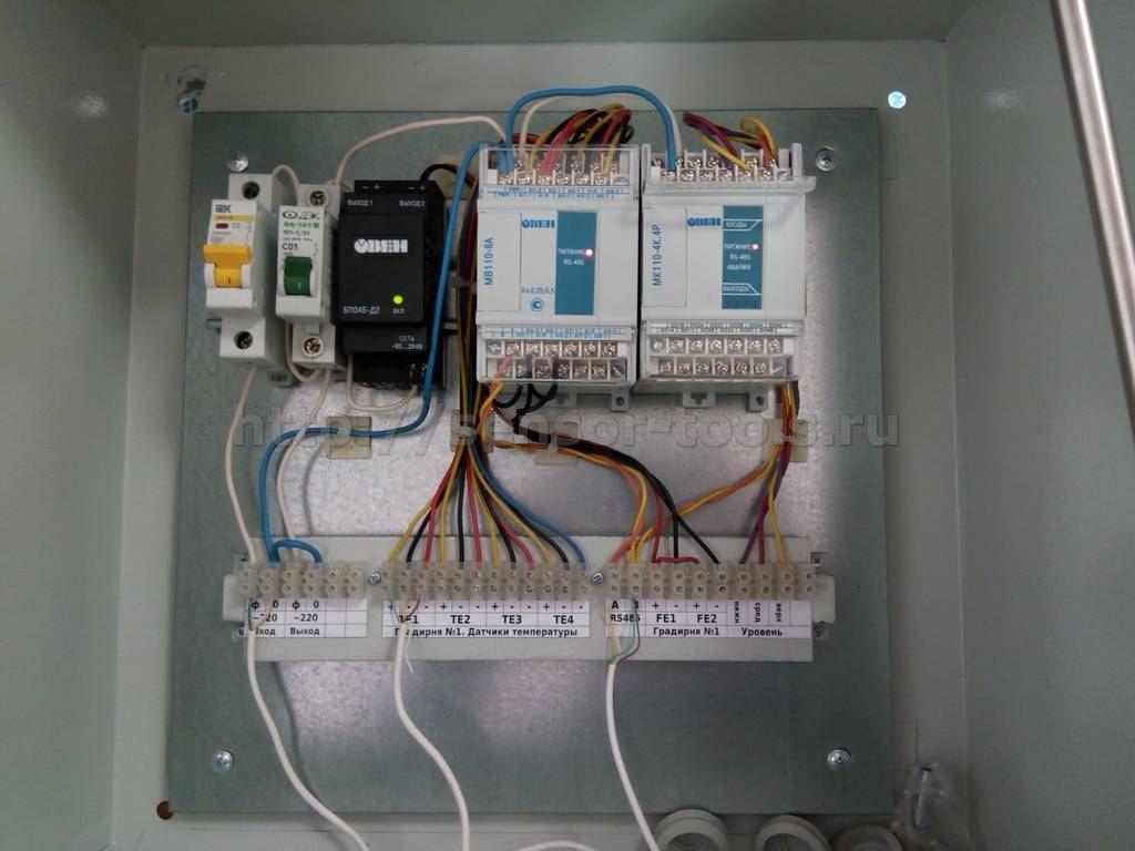 Шкаф автоматики мониторинга градирни