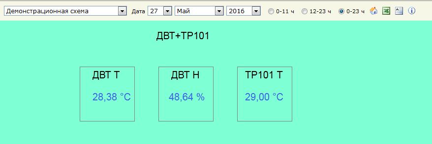 Пример интерфейса системы